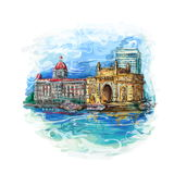 Mumbai, India brama ilustracja wektor