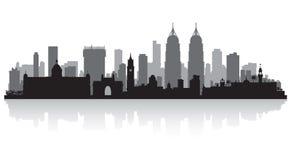 Mumbai India city skyline silhouette. Mumbai India city skyline vector silhouette illustration Stock Photo