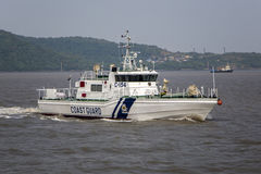 Mumbai, India. Coast guard in Mumbai, India. The Indian Coast Guard protects India`s maritime interests and enforces maritime law stock images