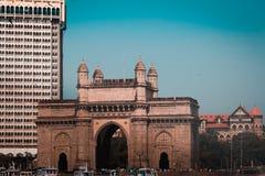 Mumbai, India, 12-in de war brengen-2019, Gateway van mumbai van India royalty-vrije stock foto's