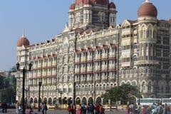 Mumbai, India - February 14, 2018: the taj mahal hotel in the city cente, The Gateway of India stock images
