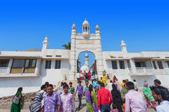 MUMBAI, INDIA - FEBRUARY 27: Unidentified people at Haji Ali Dar Royalty Free Stock Photo