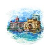 Mumbai, India Gate Stock Photography