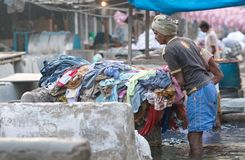 Dhobi Ghat in Mumbai, Maharashtra, India Royalty Free Stock Photography
