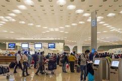 Mumbai, India - January 5, 2015: Passenger in Chhatrapati Shivaji International Airport. Stock Photography