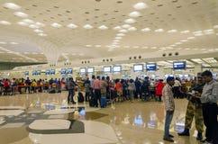 Mumbai, India - January 5, 2015: Passenger in Chhatrapati Shivaji International Airport. Royalty Free Stock Image