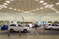 Mumbai, India - January 5, 2015: Tourist visit Chhatrapati Shivaji International Airport. Royalty Free Stock Photo