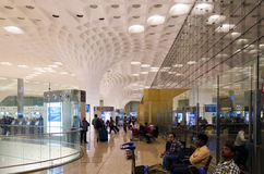 Mumbai, India - January 5, 2015: Tourist visit Chhatrapati Shivaji International Airport. Stock Images