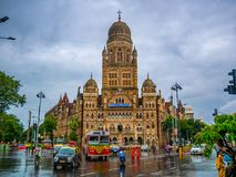 BMC municipal building in Mumbai City, India royalty free stock photos