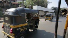MUMBAI, INDIA - MARCH 2013: Everyday traffic scene stock video