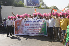 MUMBAI, INDIA - may 2015: Rally in Support of the Indian Nationa Royalty Free Stock Photos