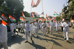 MUMBAI, INDIA - may 2015: Rally in Support of the Indian Nationa Royalty Free Stock Photo