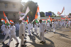 MUMBAI, INDIA - may 2015: Rally in Support of the Indian Nationa Stock Photo