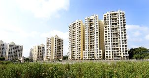 Panoramic View of Residential Township. Mumbai,India,May 23,2015: View of Residential complex in kalyan ,Thane near Bombay,Mahrashtra ,India royalty free stock photography