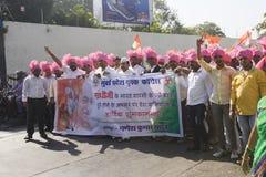 MUMBAI, INDIA - może 2015: Wiec w poparciu dla Indiańskiego Nationa zdjęcia royalty free