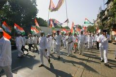 MUMBAI, INDIA - może 2015: Wiec w poparciu dla Indiańskiego Nationa zdjęcie royalty free