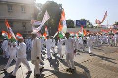 MUMBAI, INDIA - może 2015: Wiec w poparciu dla Indiańskiego Nationa zdjęcie stock