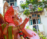 MUMBAI, INDIA - SEPTEMBER 18,2013 : Devotees bids adieu to Lord Ganesha as the ten-day-long Hindu festival ends in Mumbai. Stock Image