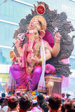 MUMBAI, INDIA - SEPTEMBER 29,2012 : Devotees bids adieu to Lord Ganesha as the ten-day-long Hindu festival ends in Mumbai. Stock Images