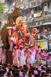 MUMBAI, INDIA - SEPTEMBER 22,2010 : Devotees bids adieu to Lord Ganesha as the ten-day-long Hindu festival ends in Mumbai. Stock Photos