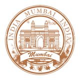 Mumbai, India stamp. Grunge rubber stamp with ship and the word Mumbai, India inside Royalty Free Stock Photo