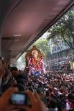 MUMBAI INDIA, WRZESIEŃ, - 29,2012: Dewotki licytują władyka Ganesha jako długie Hinduskie festiwal końcówki w Mumbai do wiedzenia obraz royalty free