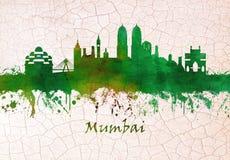 Mumbai Indien horisont stock illustrationer