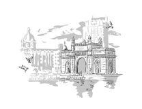 Mumbai Indien port Fotografering för Bildbyråer