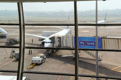 MUMBAI, MAHARASHTRA, INDIA - 13 NOV. 2014: Indira Gandhi International Airport. Royalty Free Stock Photos
