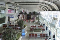 MUMBAI MAHARASHTRA, INDIEN - 13 NOVEMBER: Chhatrapati Shivaji International Airport på NOVEMBER 13 2014 i Mumbai, Maharashtra, In Arkivbilder