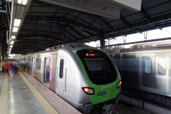 Mumbai Metro train. Comfortable, modern , fast, new & air conditioned way of transport in Mumbai India. Stock Images