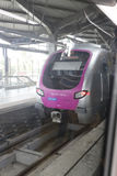 Mumbai Metro train shot from window. Royalty Free Stock Photos