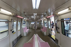 Mumbai Monorail train empty from inside. Royalty Free Stock Images