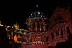 Mumbai municipal building celebration lighting-III Stock Photography
