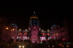 Mumbai municipal building celebration lighting-viiI Stock Photography
