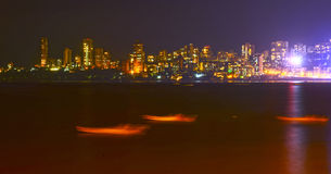 Mumbai At Night. View as seen from the Marine Drive in Mumbai Royalty Free Stock Photography