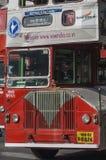 Mumbai offentlig buss nära Victoria Terminus fotografering för bildbyråer