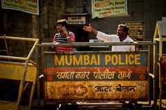 Mumbai Police of The Gateway to India, Mumbai, India Stock Photos