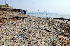 Mumbai Pollution Stock Photos