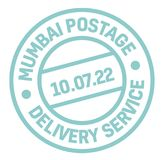 Mumbai postage stamp. Realistic looking stamp with city name Stock Photos