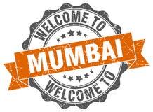 Mumbai round ribbon seal. Mumbai round orange ribbon seal Royalty Free Stock Photo