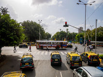 Mumbai ruch drogowy fotografia stock