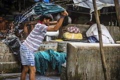 Mumbai ` s dhobighat in Mahalaxmi, India royalty-vrije stock afbeelding
