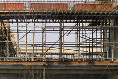 Mumbai scaffold patterns Stock Photo