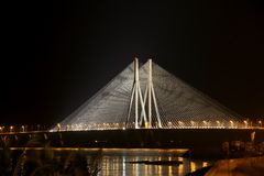 Mumbai Sea Link. Scintillating view of Bombay Sea Link @ Night # connecting over # the arabian sea #Bombay #India #Night views # iconic india #Magical Moments Royalty Free Stock Photography