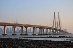 Mumbai Sealink. In Mumbai City, India stock images