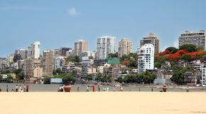 Mumbai Skyline. View from the beach royalty free stock photo