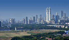 Mumbai skyline elevated view Royalty Free Stock Image