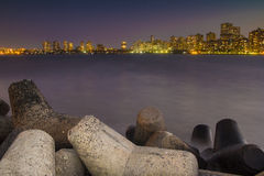 Mumbai skyline - From Nariman Point. A view from Nariman Point in Mumbai Royalty Free Stock Image