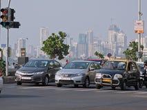 Mumbai skyline and taffic Stock Photo